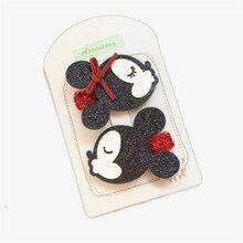 цены New Lovely Cartoon Minnie Mouse Ears Hairpin Children Hair Clips Bow Accessories For Baby Girls Kids Barrette Headdress Headwear