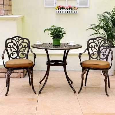 балконная мебель из литого алюминия для отдыха садовый стол