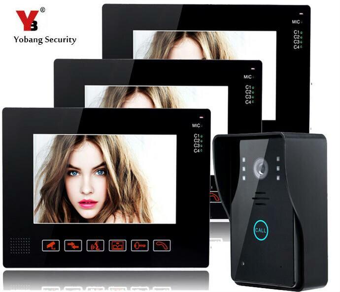 Yobang Security Wired 9inch Video Intercom Monitor For Home Security TFT Wired Video Intercom Doorbell Rainproof Door Phone