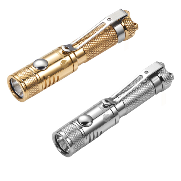 Lumintop Waterproof Ant Stainless Steel/Brass XP-G2 R5 120LM EDC Mini LED Flashlight By  ...