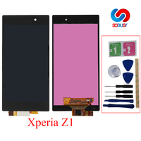 Original 5.0 LCD For SONY Xperia Z1 Display Touch Screen+Frame For SONY Xperia Z1 Display L39 L39H C6902 C6903 C6906 Assembly