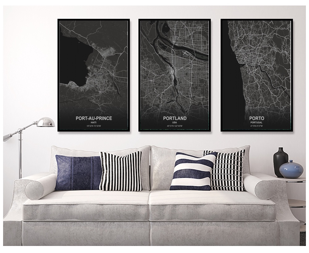 Us 5 77 32 Off Port Au Prince Portlan Porto Quebec City Rio De Janeiro Poster Canvas Art Prints Painting Wall Picture In Painting Calligraphy From