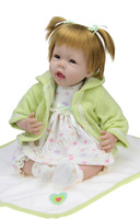 silicone reborn baby doll cloth body girl Blonde doll