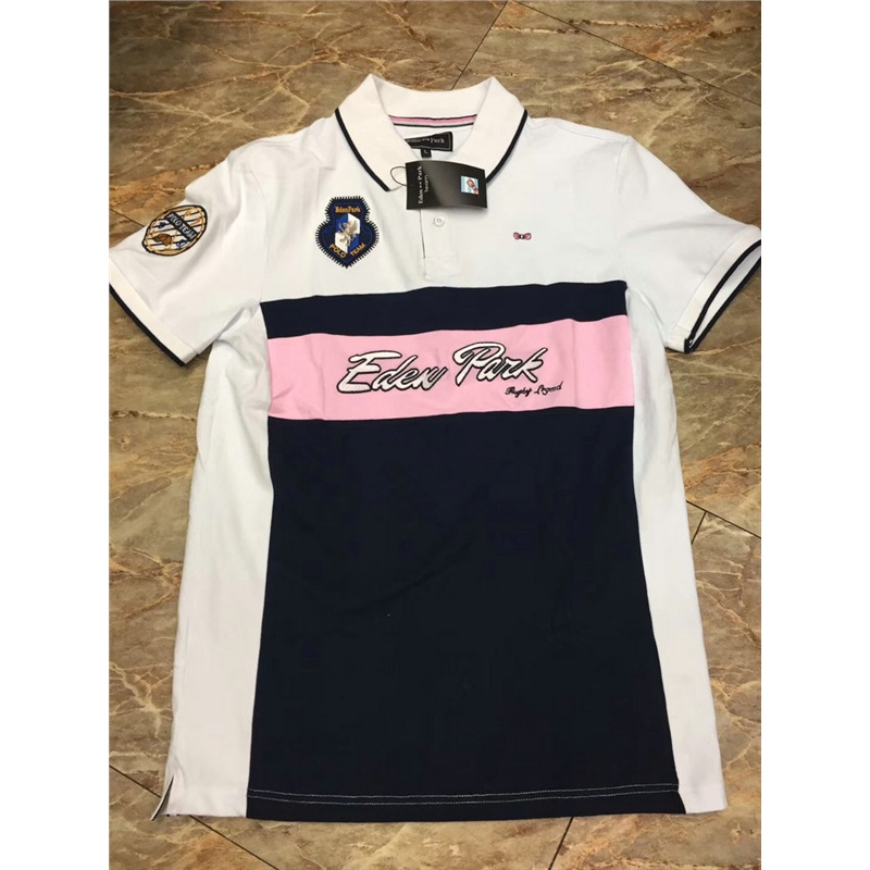 Embroidery Eden Park Vintage 2019 Causal Men   POLOS   Shirt for men's   Polo   Homme Short-sleeve Camisa   Polo   Man Summer Tops&Tees