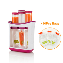 Squeeze Food Station Baby Organization Storage Containers Maker Set Fruit Puree Packing Machine