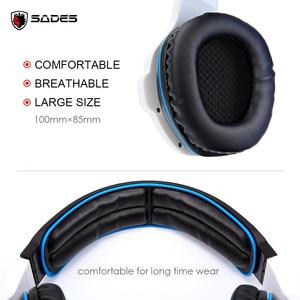 Image 5 - SADES SA 903 高性能 7.1 USB PC ヘッドセット重低音ゲーミングヘッドフォン Led Micphone ゲームプレーヤー