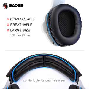 Image 5 - SADES SA 903 High Performance 7.1 USB PC Headset Deep Bass Gaming Headphones With LED Micphone For Games Player