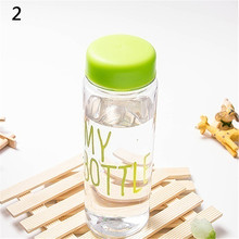 Transparent Fruit Juice 500ml Portable Sport Travel Office Sports Cycling Camping Readily Space Health Lemon Juice Water Bottle