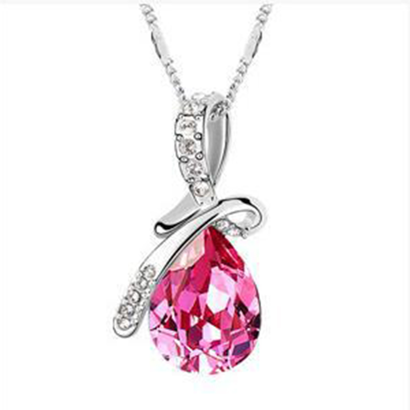 SPBUY Hot 6 Colors Austrian Crystal Necklace Pendants Jewellery & Jewerly 2018 Necklace Women Fashion Jewelry Wholesale