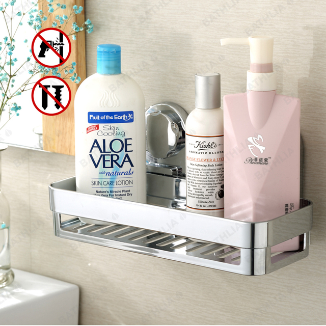 Bathroom Accessories Corner Rack Shower Caddy Shelf Shampoo Holder With Suction Cup Super