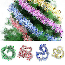 Xmas Plastic Colorful Garland Christmas Tree Decoration Party Hanging Ornaments Merry Christmas Decoration Kerst  nt#