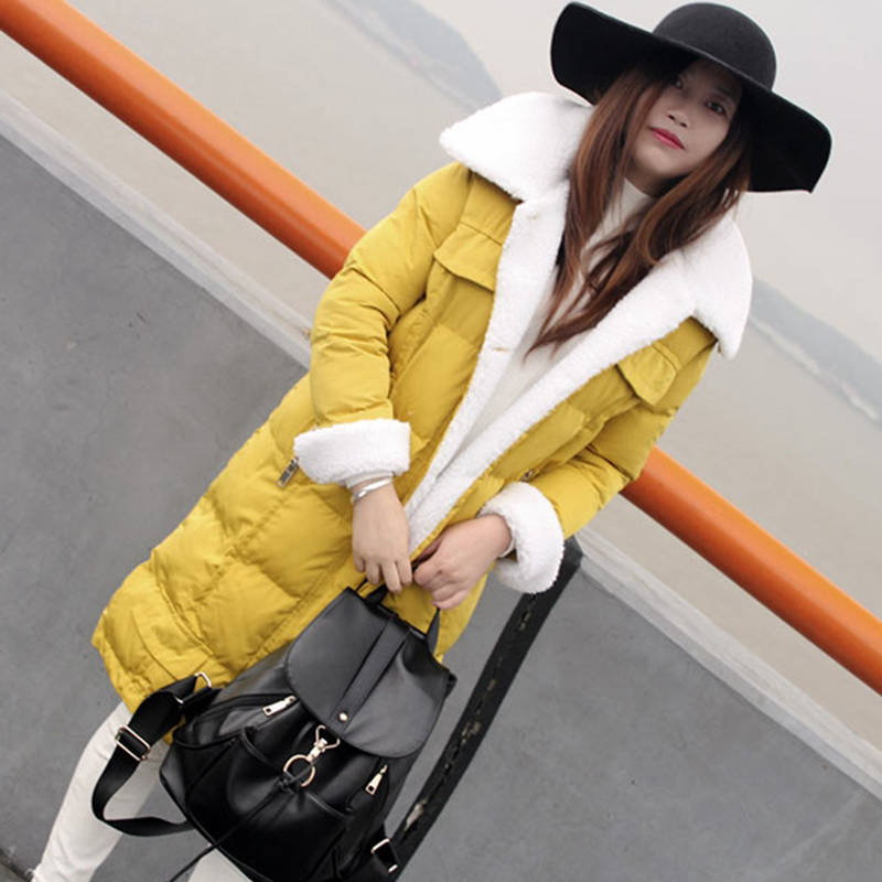 Femmes Coton yellow Veste Manteau Couleur 2018 xl Wk214 S Fourrure Femelle Étudiant De black Colliers New Mode Hiver Gray Survêtement Solide Moyen Longueur ztzv4q1wE