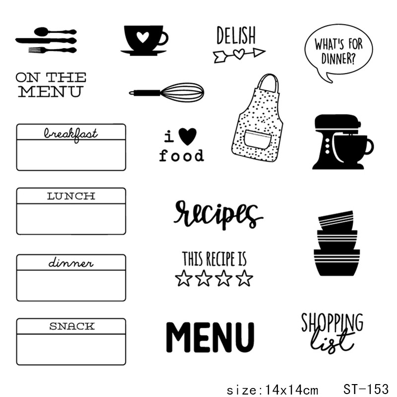 ZhuoAng Apron Bowl Cooking Supplies Clear Stamps For DIY Scrapbooking/Card Making/Album Decorative Silicon Stamp Crafts