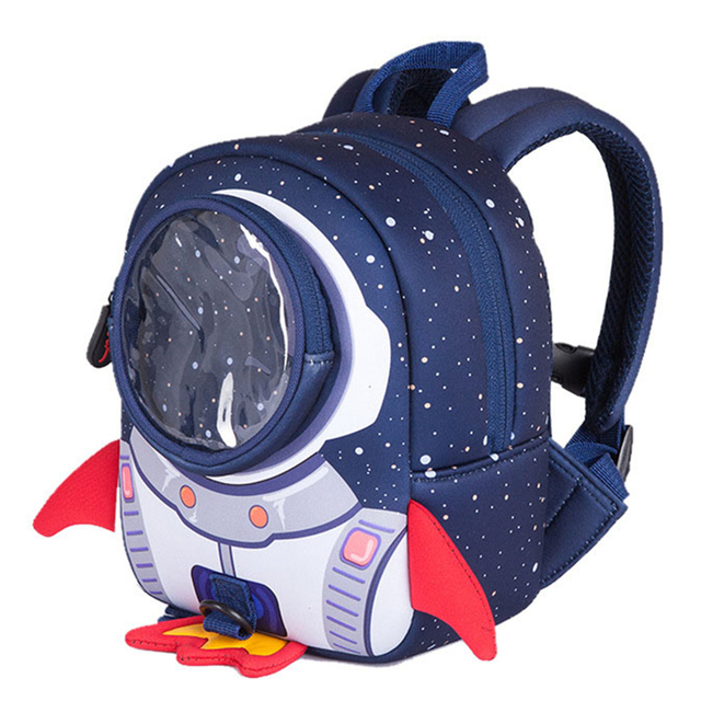 3D Rocket Space Cartoon School Bags For Girls Boys Cool Children Backpack  with Anti Lost Kindergarten Kids Baby Bags Mochila