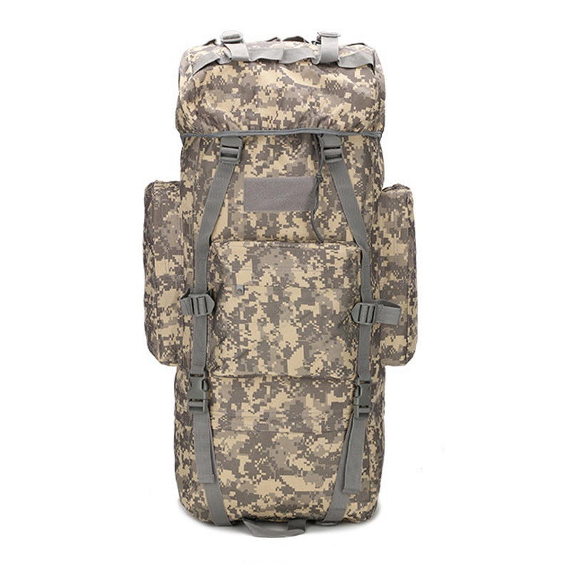 65L Large-capacity Mountaineering Bag Outdoor Camping Hiking Backpack Multifunction Sport Bag Molle Tactical Backpack Rain Cover outlife new style professional military tactical multifunction shovel outdoor camping survival folding spade tool equipment