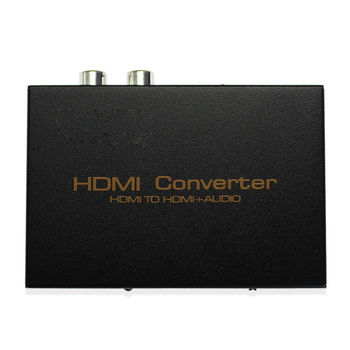 HDMI Converter Audio Splitter HD 1080P HDMI to HDMI Audio SPDIF + RCA L/R Audio Splitter Extractor with Power Supply Adapter image