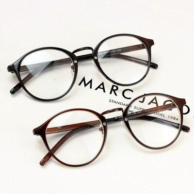 Урожай круг не связанные с основной очки Женщины равнине зеркало мужской большой ультра-легкие очки кадр миопия