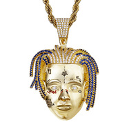 Hip Hop Jewelry XXX Tentacion Pendant Necklace 2 Colors AAA Cubic Zirconia Iced Out Mens Necklace