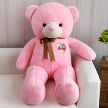 stuffed toy huge 140cm pink teddy bear plush toy ,bear doll soft hugging pillow Valentine's Day,birthday present Xmas gift c661