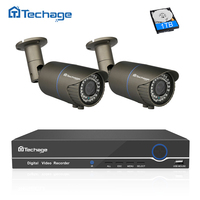 4CH 48V POE NVR DVR 1080P HD CCTV System 2PCS 3000TVL 2 0MP 2 8 12mm