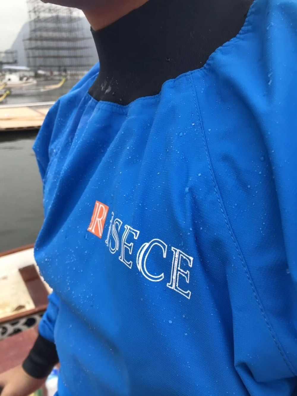 Tahan Air Tahan Air Sesuai dengan Perahu Naga Balap Dry Jaket Whitewater Kayak Canoe Top Coat Berlayar Tahan Angin Kain untuk Berperahu