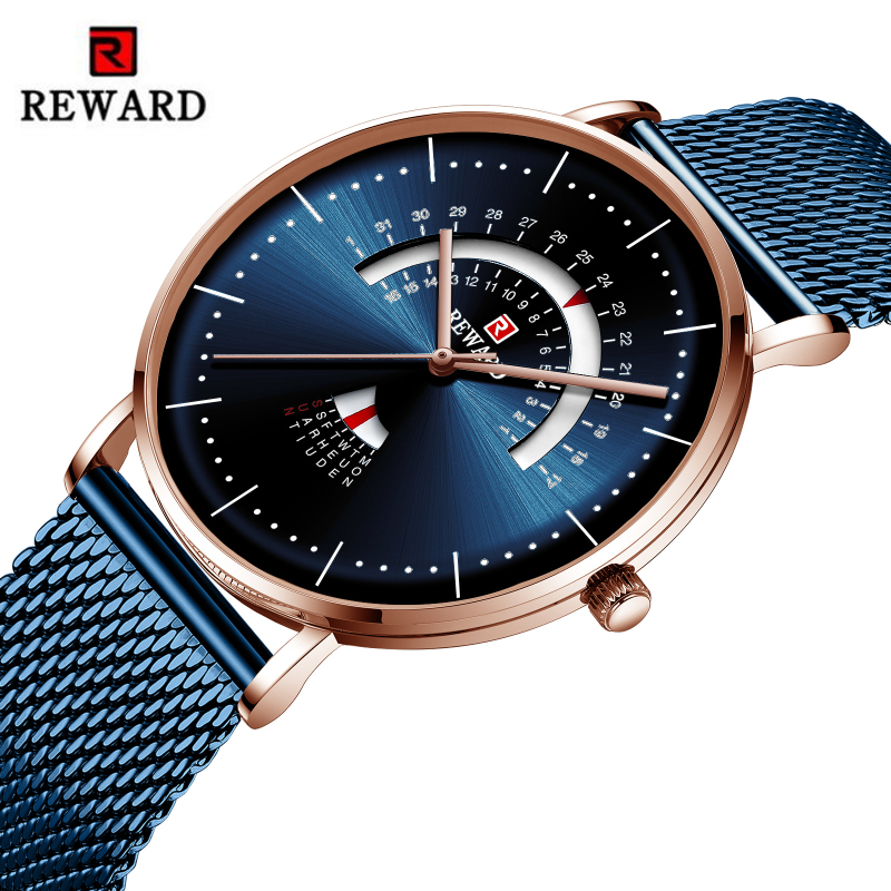 Relogio Masculino REWARD Fashion Men Watch Waterproof Mens Watches Top Brand Luxury Men's Watch Complete Calendar Week Clock