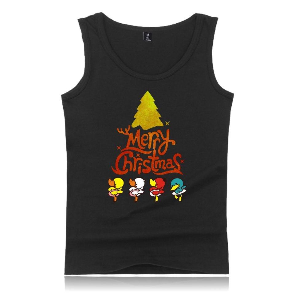 Fashion Christmas Tank Top Religious Festival Men/women Cotton Funny Cartoon Sleeveless Vest