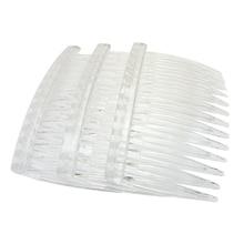 20 x прозрачные цветные пластиковые заколки для волос боковые расчески заколки 70X40 мм