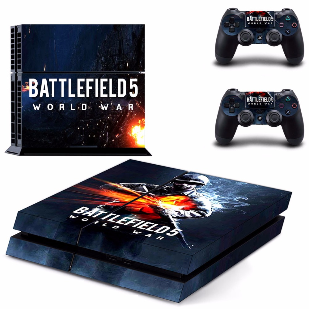 Game Battlefield 5 PS4 Skin Sticker Decal For Sony PlayStation 4 Console and 2 Controllers PS4 Skins Sticker Vinyl