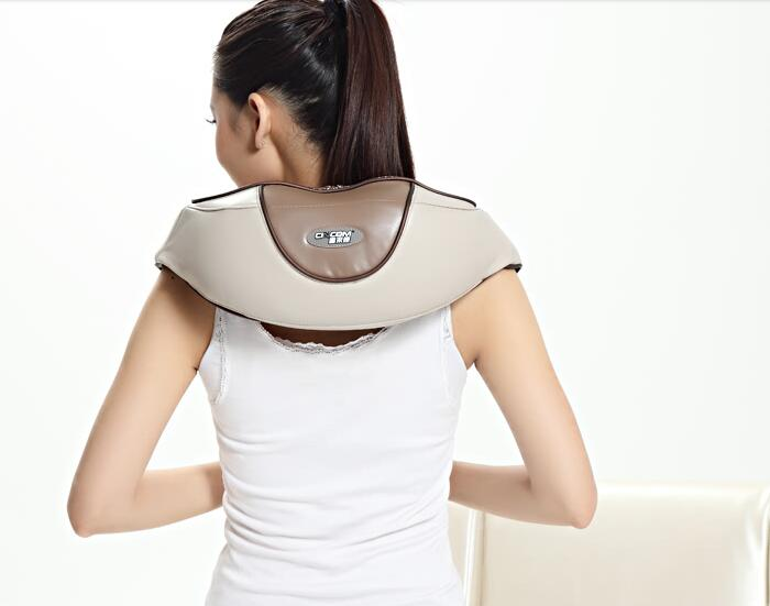 Cervical Vertebra Knocking Taping Massager Shoulder Belt Massage Infrared Heating Full Body Massager heating massage belt with cape dual heated full body multifunctional neck cervical vertebra belt free shipping