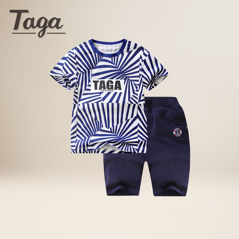 TAGA Baby Boy Clothes Summer Baby Boys Clothes Set Cotton Baby Clothing Suit (Shirt+Pants) Fashion print Infant bebe Clothes Set 2pcs baby boy clothing set autumn baby boy clothes cotton children clothing roupas bebe infant baby costume kids t shirt pants