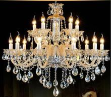 new large Luxury crystal chandelier Fashion amber3/6/8/10/12/18 arms crystal light Modern Large chandelier light  lustres