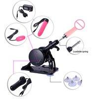 Sex Machine Automatic Retractable Gun Female Masturbation Machine with 1 Dildo 2 Vibrating Egg Accessories Sex Product for Women