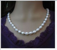 single strands 10 11mm baroque white pearl necklace 1814k/20