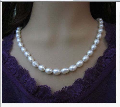 single strands 10 -11mm baroque white pearl necklace 1814k/20single strands 10 -11mm baroque white pearl necklace 1814k/20