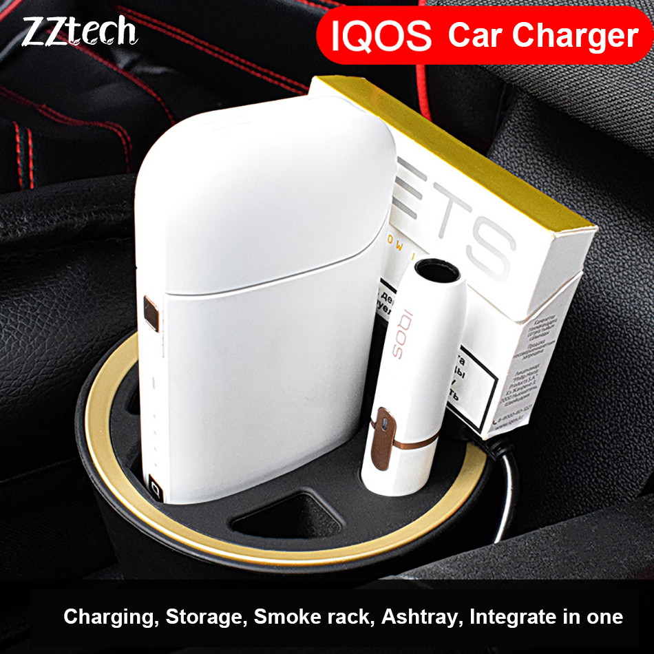 Original Electronic Cigarette Multifunctional Car Charger for IQOS 2 4 IQOS  2 4 Plus charger Intelligent e-cigarette usb charger