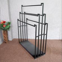 Cloth display racks are hung on both sides of the double-sided scarves rack цена и фото