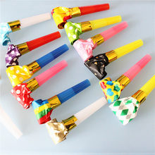 3Pcs Funny Whistles Kids Children Birthday Party Blowing Dragon Blowout Baby Colorful Birthday Supplies Toys Gifts(China)
