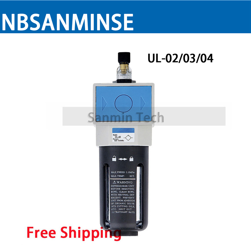 Air Preparation Units 1/4 3/8 1/2 3/4 1 UL / L Pneumatic Lubricator Air Preparation SHAKO Type Air Lubricator One Units Sanmin smc type pneumatic air lubricator al5000 10