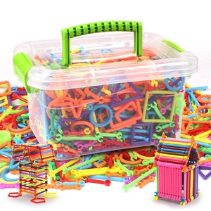 Image 3 - 子供のビルディングブロック玩具セットボックス柔軟な混合形状彫刻スティックdiy知育玩具NSV775
