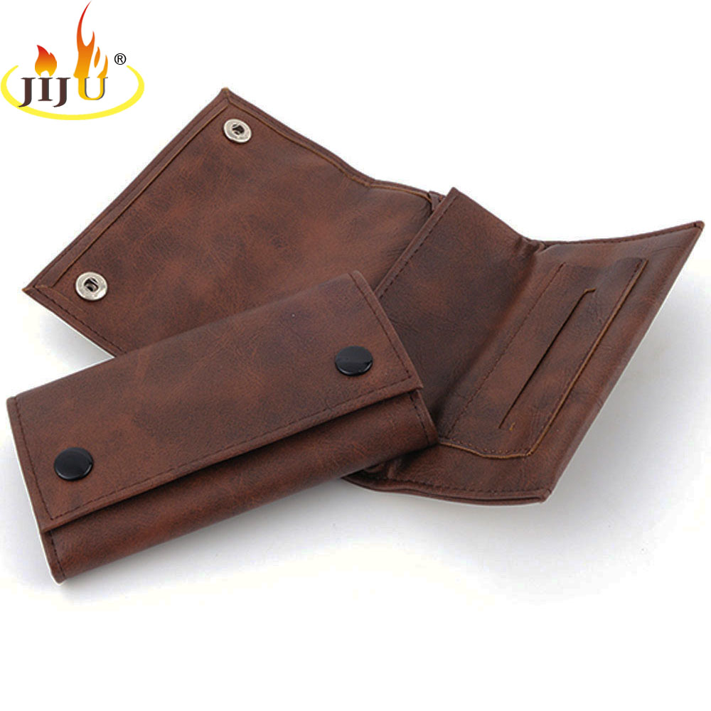 JIJU Leather Weed Pouch High Quality Grade Tobacco Herb Pouch Case Weed Bag Cigarette Smoking Accessories Perfect Gift 61013