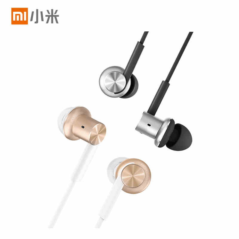 100% Original Xiaomi Mi In-Ear Earphones Pro for Android,14g Light Weight,3.5mm Gold-Plated Jack,1.25M Cable,Built-in Microphone new original xiaomi mi iv hybrid in ear earphone pro earphones mi piston 4 dual drivers wired control with mic for android ios