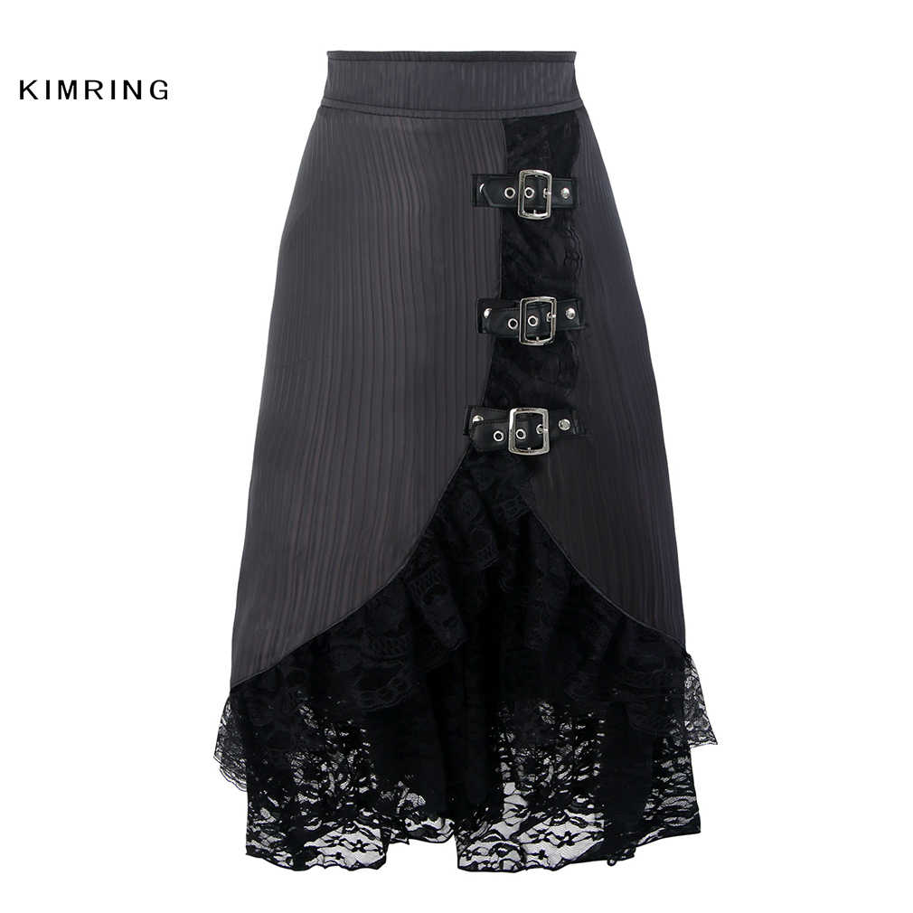 6ad8779d0 Kimring Vintage Steampunk Skirt Fashion Lace Corset Skirt High Waist Slim  Corset Skirt Victorian Gothic Women