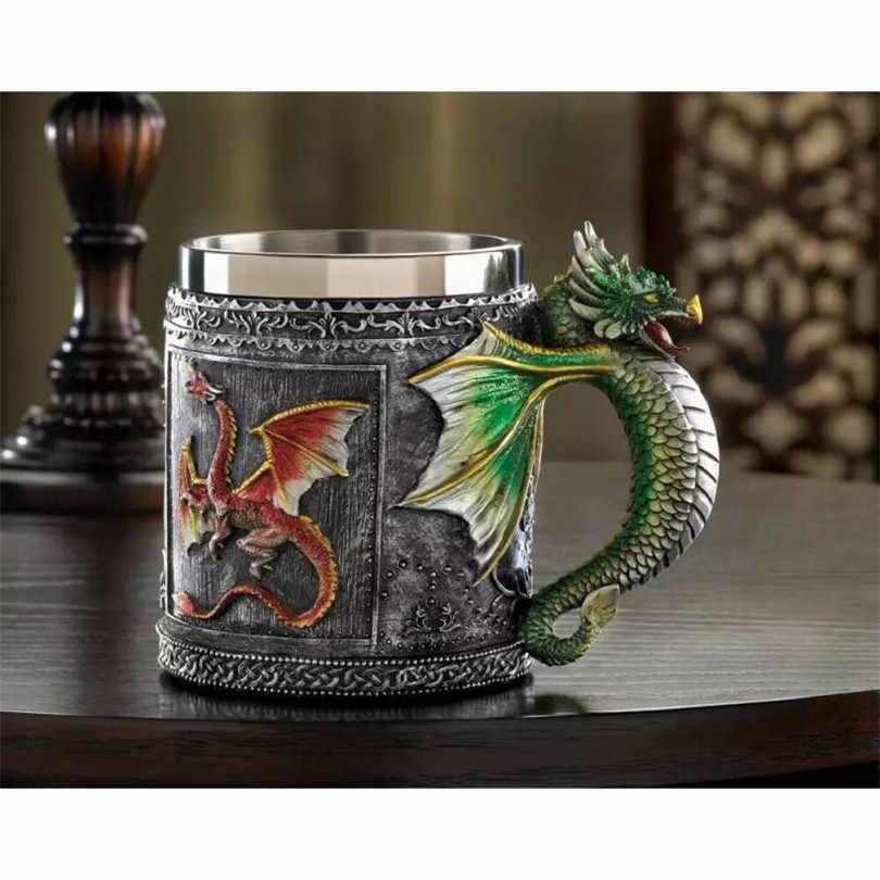 2017 تعزيز 1 قطعة الشاي كأس copo caneca الديكور الملكي بارد التنين لل أكواب الإبداعية هدية لعبة من عروش medieval