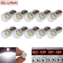 10Pcs 3V 6V DC E10 LED 5630 2 SMD Screw Led Bulb Light Lamp For Torch Bike Bicycle Lights Xenon White 1 2 4 pcs new rushed lamp 2835 smd 1 led bulb dc 6v volt white mes e10 1447 screw for torch bike bicycle free shipping