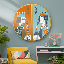 King&Queen Nordic style porch decorative painting Corridor Semicircle combination living room mural Bedroom restaurant