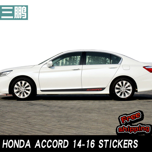 Carbon Fiber Body Sticker Edge Decoration 2017 To 2016 For Honda Accord Special Vehicle Style Design