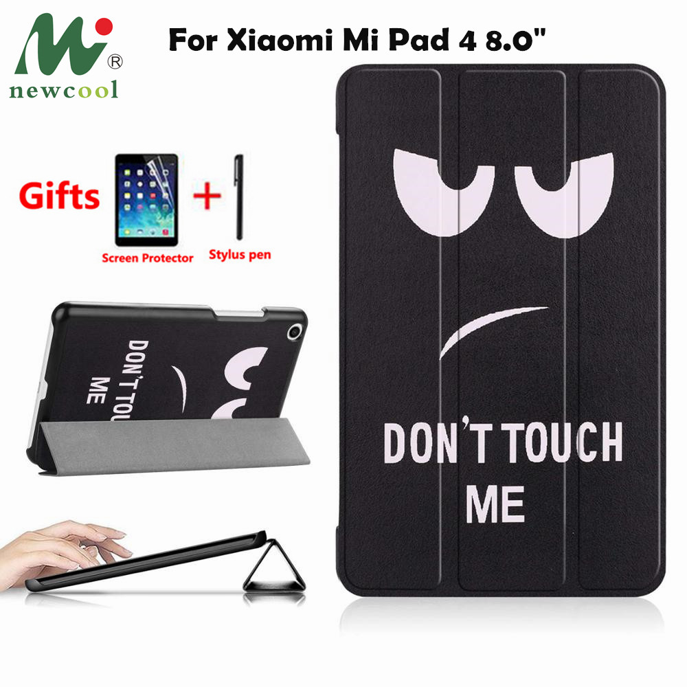 NEWCOOL PU Cover Case For Xiaomi Mi Pad 4 MiPad4 8 inch Tablet Protective Smart Case for xiaomi Mi Pad4 Mipad 4 8.0 case coverNEWCOOL PU Cover Case For Xiaomi Mi Pad 4 MiPad4 8 inch Tablet Protective Smart Case for xiaomi Mi Pad4 Mipad 4 8.0 case cover