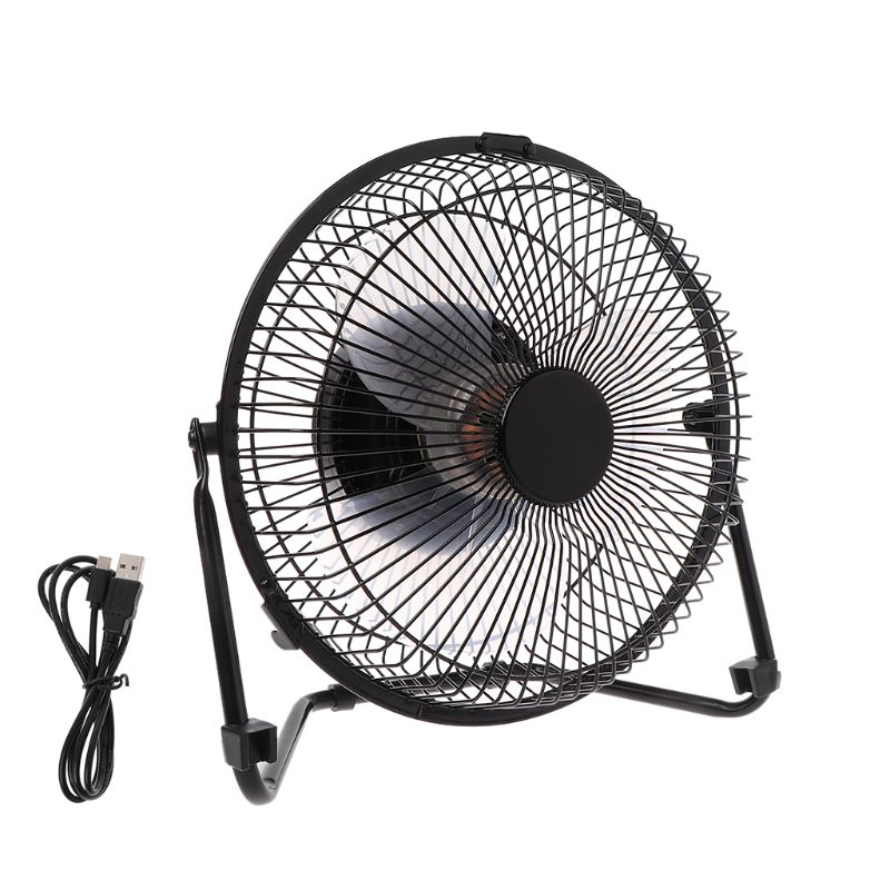 """LILENG 6"""" 8"""" 10"""" Large Black All Metal Electric Rotating USB Powered 18650 Battery Powered Desktop Fan 100% brand new and high q