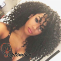 Cheap Brazilian kinky curly synthetic lace wig heat resistant synthetic lace front wig for black women synthetic no lace wigs